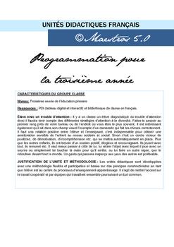 Unidad Didáctica 3- Tercero de primaria francés