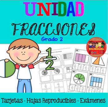 Unidad Fracciones Matemáticas Grado 2 / Fractions in Spanish 2nd