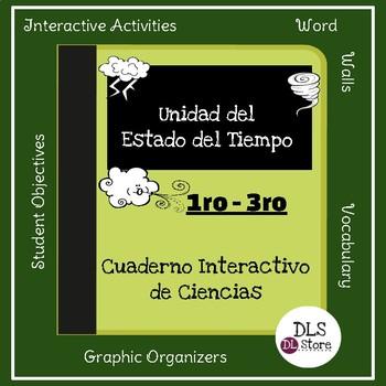 Cuaderno Interactivo del Estado del Tiempo/ Spanish Weather Interactive Notebook