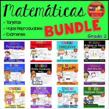 Unidad Matemáticas BUNDLE Grado 2 / Math bundle in Spanish 2nd grade