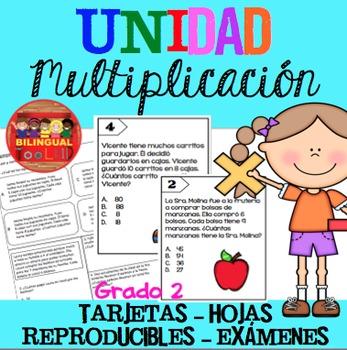 Unidad Multiplicación Grado 2 / Multiplication Unit in Spanish 2nd Grade