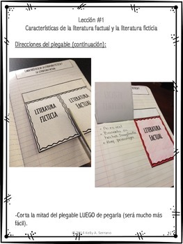 Interactive Reading Notebook: Genres of Fiction ( Spanish )