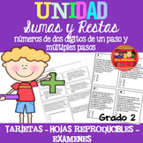 Sumas y Restas Unidad / Addition & Subtraction Unit in Spanish 2nd grade