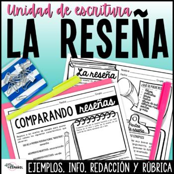 Unidad de Escritura La Reseña | Spanish Literary Review Writing Unit