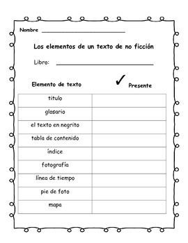 Unidad de No Ficcion (Spanish Non-fiction unit)