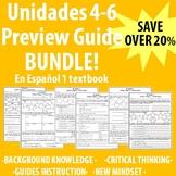 """Spanish 1 & 2 - """"En Espanol 1"""" Unidades 4-6 Preview Guide BUNDLE!"""