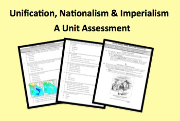 Unification Nationalism and Imperialism Unit Test M/C Open Responses