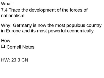 Unification of Germany - 23.3 Powerpoint - Nationalism