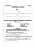 Unification of Italy guide/ handout