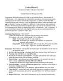 Unified Classroom Management Plan
