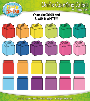 Unifix Counting Cubes Clipart — Over 25 Graphics!