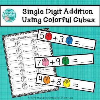 Single-Digit Addition Using Colorful Cubes