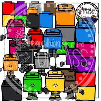 Counting Cube Clipart Bundle