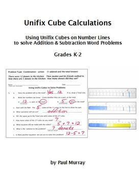 Unifix Cube Calculations:  Add & Subtract with Unifix Cube