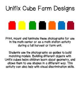 Unifix Cube Farm Designs