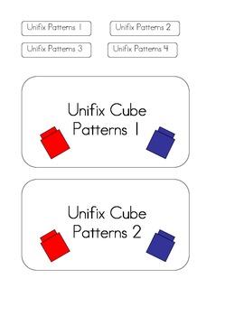 Unifix Cube File Folder Games - 4 Unifix Cube Pattern Games