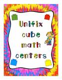 Unifix Cube Math Centers
