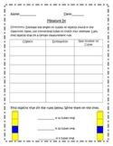 Unifix Cube Measuring Recording Sheet