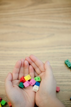 Stock Photo: Math Unifix Cubes #4 -Personal & Commercial Use