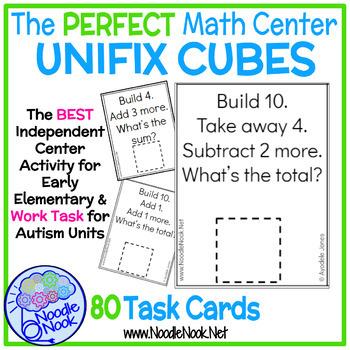 Unifix Cubes Addition and Subtraction SUPER BUNDLE Task Cards