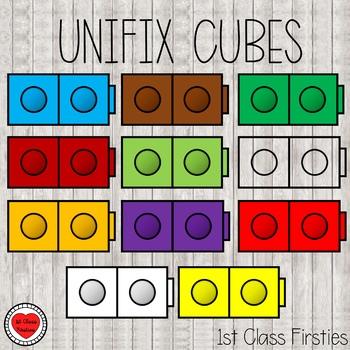 Unifix Cubes Clipart By 1st Class Firsties Teachers Pay Teachers