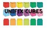 Unifix Cubes Label
