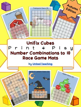 Unifix Cubes Print & Play Number Combinations to 10 Race G