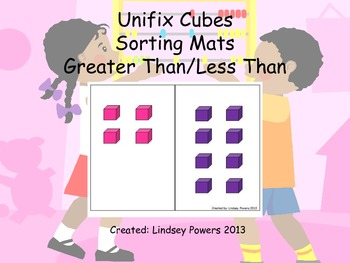 Unifix Cubes Sorting Mats: Greater Than/Less Than
