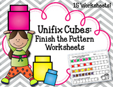 Linking Cubes Worksheets and Activities. Finish the Pattern. Interlocking block