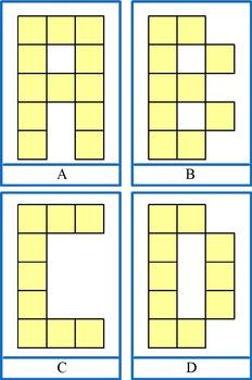 Unifix Cubes as uppercase letters