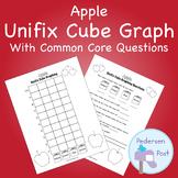 Unifix Graph with Common Core Questions - Apple Theme