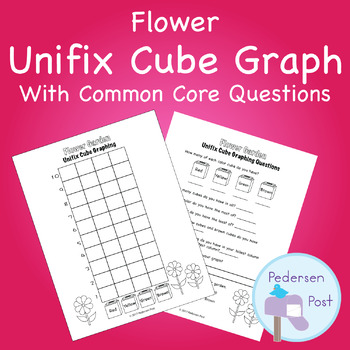 Unifix Graph with Common Core Questions - Flower Theme