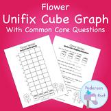 Unifix Graph with Common Core Questions - Flower Theme