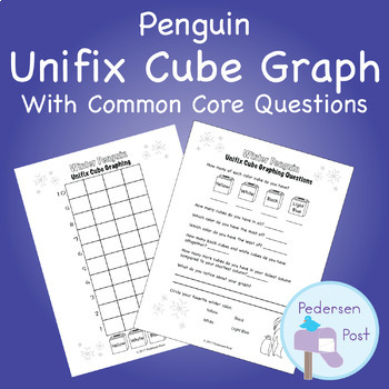 Unifix Graph with Common Core Questions - Penguin Theme