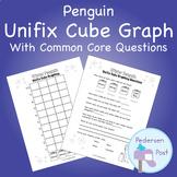 Unifix Graph with Common Core Questions - Penguin Theme