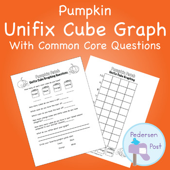 Unifix Graph with Common Core Questions - Pumpkin Theme