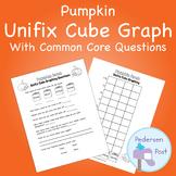 Unifix Graph with Common Core Questions - Pumpkin Theme