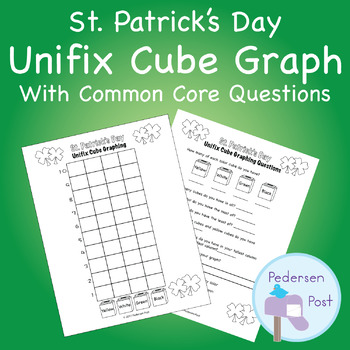 Unifix Graph with Common Core Questions - St. Patrick's Day Theme