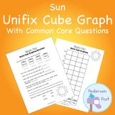 Unifix Graph with Common Core Questions - Sun Theme