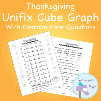 Unifix Graph with Common Core Questions - Thanksgiving Theme