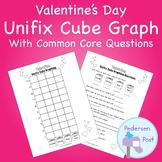 Unifix Graph with Common Core Questions - Valentine Theme