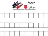Unifix and Domino Math Mats