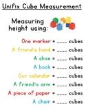 Unifix cube measurement activity