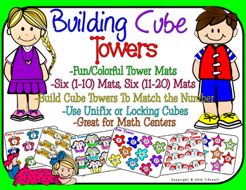Unifix or Locking Cube Tower Mats (Numbers 1-20)