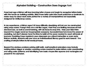 Unifix/Snap Cube Alphabet Building