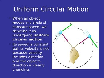 Uniform Circular Motion: Centripetal Force