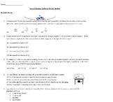 Physics: Uniform Circular Motion Review Sheet