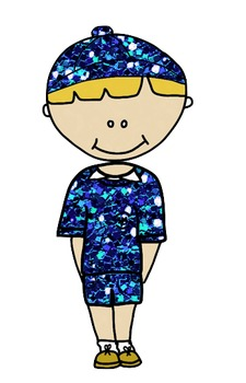 Glitter Kids Clip Art