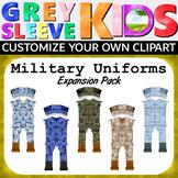 Military Clip Art, Veterans Day Clip Art, Grey Sleeve Kids