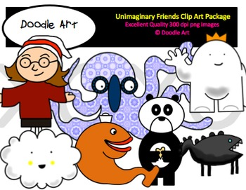 Unimaginary Friends Clipart Pack